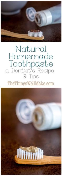 Brush and protect your teeth naturally with these homemade toothpaste recipes and tips for optimal dental hygiene from a dentist. #toothpaste #DIY #homemadetoothpaste via @thethingswellmake