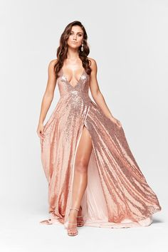 036d3b286412 A&N Luxe Camilla Sequin Gown- Rose Gold. Rose Gold Sparkly DressRose ...