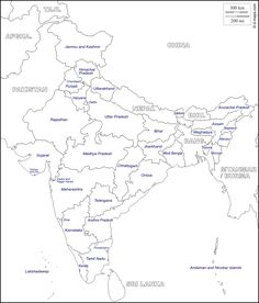 Image Result For India Political Map With Capitals