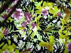 Tissu Coton Fleur d