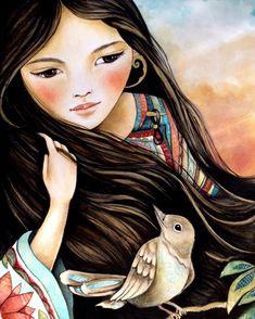 Сегодня моя публикация посвящена еще одной интересной хужожнице - Клаудии Трембле (Claudia Tremblay) Родилась Claudia Tremblay в Канаде, в Квебеке. Очень много путешествовала и в возрасте 24 лет, после смерти своей матери, она начала рисовать, чтобы выплеснуть на бумагу свои впечатления от поездок, путешествий. Уехала жить в Центральную Америку, в Гватемалу.