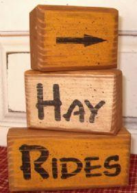Primitive Fall Wood Crafts   Wood - Fall Wood Blocks - Country Quackers Primitives-Primitive ...