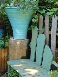 keep your garden on trend with this bold blue table and chairs that will add some more life to your outdoors pinterest gardens - Garden Furniture East Bay