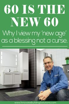 60 is the new 60. Why I view my 'new age' as a blessing not a curse. Cheap Bathroom Remodel, Shower Remodel, Bath Remodel, Bathroom Makeovers, Grab Bars In Bathroom, Small Bathroom, Master Bathroom, Bathroom Ideas, Shower Wall Panels