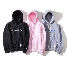 New Champion letters Mens Pullover Hoodie unisex fleece Hoodies Hoody teenagers Cute Lazy Outfits, Trendy Outfits, Cool Outfits, Fashion Outfits, Hoodie Sweatshirts, Fleece Hoodie, Sweater Hoodie, Mens Pullover, Champion Clothing