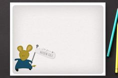 A Mousey Message Children's Personalized Stationery by jenincmyk at minted.com