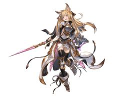 View an image titled 'Yuisis Art' in our Granblue Fantasy art gallery featuring official character designs, concept art, and promo pictures. Female Character Design, Character Design Inspiration, Character Concept, Character Art, Cute Characters, Female Characters, Anime Characters, Fantasy Anime, Fantasy Girl