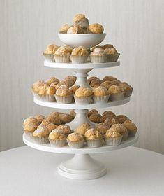 Cream Puff Cake Stand Wedding Cake