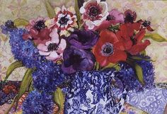 Anemones in Antique Jug, Joan Thewsey