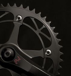 murdered out Phil Wood track crankset