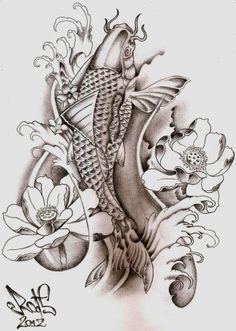 Koi tattoo inspiration. Possibly on my leg?