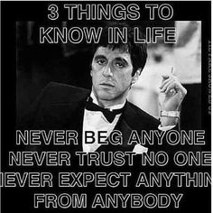 Discover and share Never Trust No One Quotes. Explore our collection of motivational and famous quotes by authors you know and love. Wise Quotes, Movie Quotes, Quotes To Live By, Motivational Quotes, Inspirational Quotes, Trust No One Quotes, Thug Life Quotes, Conquer Quotes, Famous Quotes