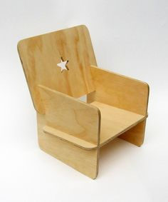 Kid's Natural Wood Chair #children #storytime