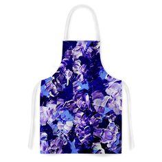 """Ebi Emporium """"Floral Fantasy"""" Purple Artistic Apron"""