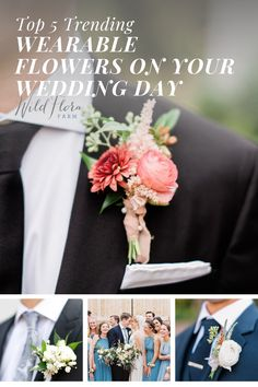 The Barn of Chapel Hill is showing you 5 unique ways to incorporate trendy wearable florals into your wedding day. Discover inspirational ideas for your wedding day flowers, everything from wearable bridesmaid's bouquets to florals for your pets. Check out the blog and be inspired to add wearable flowers to your celebration. Cake Flowers, Wedding Cakes With Flowers, Wedding Hair Flowers, Beautiful Wedding Cakes, Flowers In Hair, Floral Wedding, Wedding Bouquets, Wedding Trends, Wedding Styles