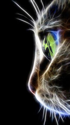 cat Art Print by Mark Ashkenazi