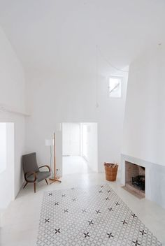 Reading Nook and Fireplace #minimalist