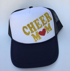 Cheer Mom Cheer mom trucker hat by MamaHenGoods on Etsy 89eac39b512