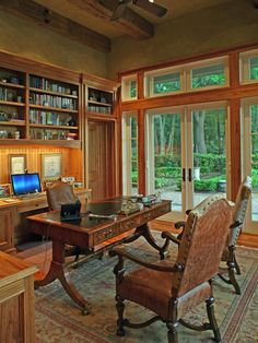 Awesome Country Home Design in Rustic Decor: Fabulous Home Office Wooden Desk Ironhorse Farm House ~ SQUAR ESTATE Architecture Inspiration