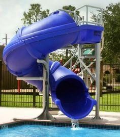 VORTEX  SWIMMING POOL POOL SLIDE - FULL TUBE WITH STAIRCASE by SR SMITH