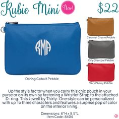 Rubie Mini by Thirty-One. Fall/Winter 2016. Click to order. Join my VIP Facebook Page at https://www.facebook.com/groups/1603655576518592/