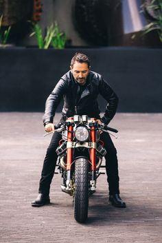 Sacha Lakic y su Honda CX500 Cafe Racer #motorcycles #caferacerculture | caferacerpasion.com