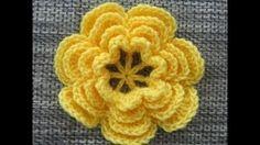 crochet flower pattern - YouTube