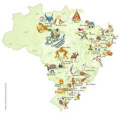 #map #Brazil                                                                                                                                                                                 Mais
