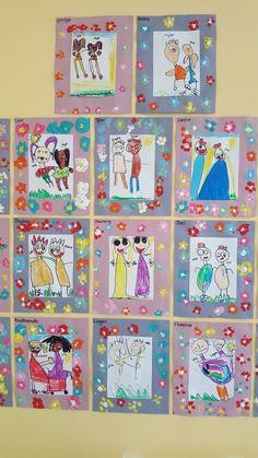 Beginning Of School, First Day Of School, Mothers Day Cards Craft, Friendship Art, Kindergarten Art Lessons, Friend Crafts, 2nd Grade Art, Smart Art, Classroom Fun