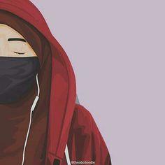 Anime Muslim, Muslim Hijab, Hijabi Girl, Girl Hijab, Arab Girls, Muslim Girls, Muslim Pictures, Hijab Drawing, Islamic Cartoon