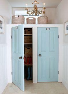 Mudroom Doors  Sarah Richardson Designer Palette for Para Paints  Doors - Robin's Egg / SR17