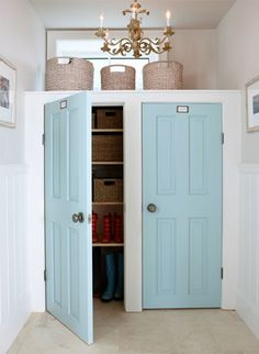 Mudroom Doors  Sarah Richardson Designer Palette for Para Paints  Doors - Robin's Egg / SR17