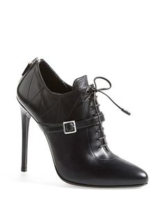 PRADA Lace Up Leather Boot