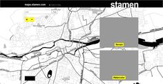 Nice clear Black and White 'Toner' Map tiles from Stamen.
