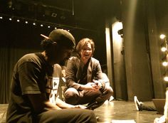 Working with Choreographer, Dave Scott during a rehearsal on @highstrungmovie.
