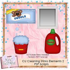 KnC Scrapz: CU Cleaning Stinks Elements 2 PSP Scripts
