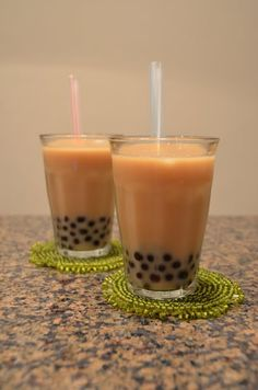 Homemade bubble tea; Completely dying for a cup right now