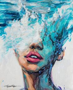 Philly's Young Artist, Lindsay Rapp, On Female Subjects, Crashing Waves And Owning Her Own Gallery - Kunst Malerei Texture Painting, Painting & Drawing, Paint Texture, Texture Art, Painting On Hand, Artist Painting, Simple Paintings On Canvas, Acrylic Art Paintings, Sea Drawing