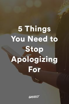"""Saying """"sorry"""" is a reflex, but it doesn't have to be. So true! Moms Life Hacks 