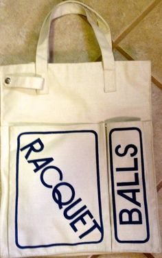 80s Racquet Ball or Tennis Bag by lishyloo on Etsy, $15.00