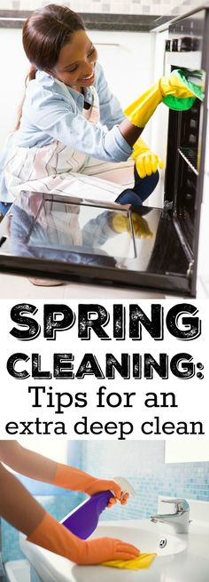 Spring Cleaning tips for an extra deep clean - Cleaning Hacks Cleaning Recipes, Diy Cleaning Products, Cleaning Solutions, Cleaning Hacks, Speed Cleaning, Deep Cleaning Checklist, Beauty Routine Checklist, Cleaning Schedules, Weekly Cleaning