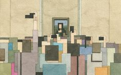 The Amazing Pixelated Watercolour Paintings of Adam Lister