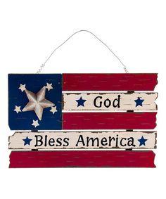 Love this 'God Bless America' Flag Wall Art on #zulily! #zulilyfinds