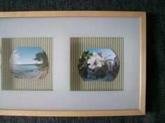Verschönerter Bilderrahmen (inklusive Inhalt) / Beautified picture frame (including its content)