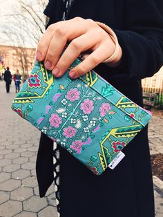 Sage Flower Phone Wristlet Wallet