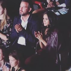 Meghan was in the stands for the @invictustoronto Opening Ceremonies this evening in a leather jacket and @aritzia dress. All the details are #ontheblog! ( via unknown)