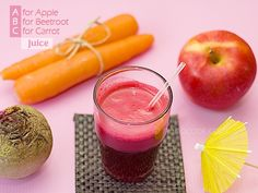 A for Apple, B for Beetroot, C for Carrot  3 simple ingredients for ABC Juice