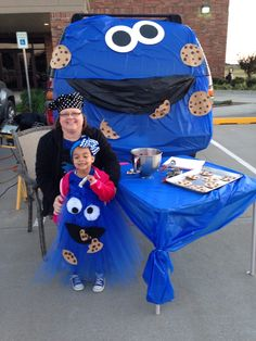 Trunk or Treat 2014   I was the Cookie Maker with my Little Cookie Monster.