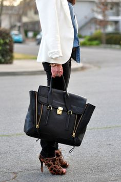 """3.1 Phillip Lim bag I want this in green for my """"anniversary""""!"""