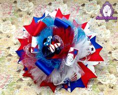 #handmade #4thofJuly #ribbon #hairbow #bowlove #bowaddict #boutique #kassiascreations #minniemouse
